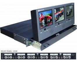 DX-563AL Triple monitor in a 1U drawer
