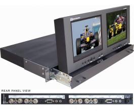 DX-802AL Dual monitor in a 1U drawer