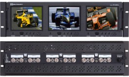 RX-563AL : 2 Composite Video Inputs with passive Loop-outputs and 1 Analog Audio per screen