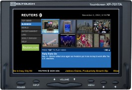 XP-701TA : Widescreen 7 Inch LCD with Touchscreen, Composite, VGA and Integrated Analog Audio