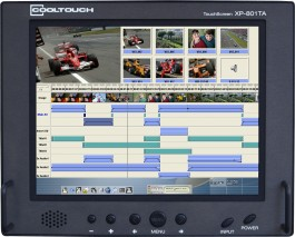 XP-801TA : 8 Inch LCD with Touchscreen, Composite, S-Video, VGA and Integrated Analog Audio